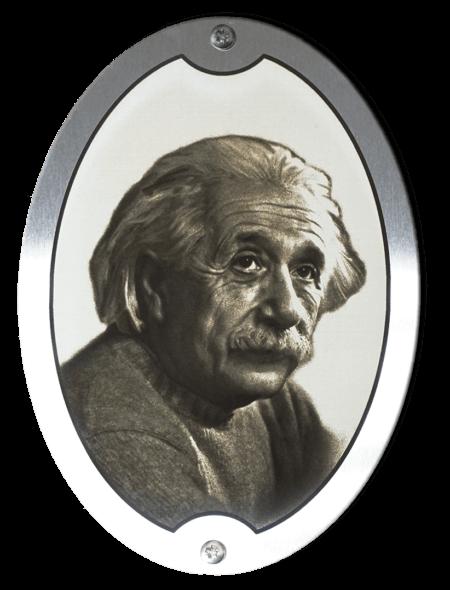 Стальной медальон с портретом